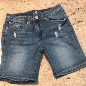 7 For All Man Kind Kids Jean Shorts